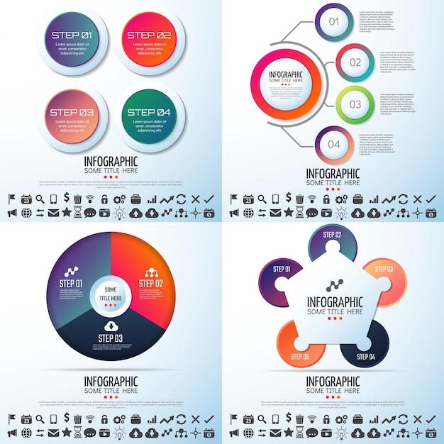 Teken bedrijfstabelnummer achtergrondkaarten Premium Vector