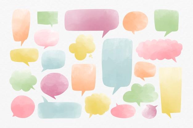 Tekstballonnen instellen Gratis Vector