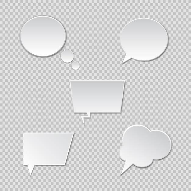 Tekstballonnen. vector spraakbox Premium Vector