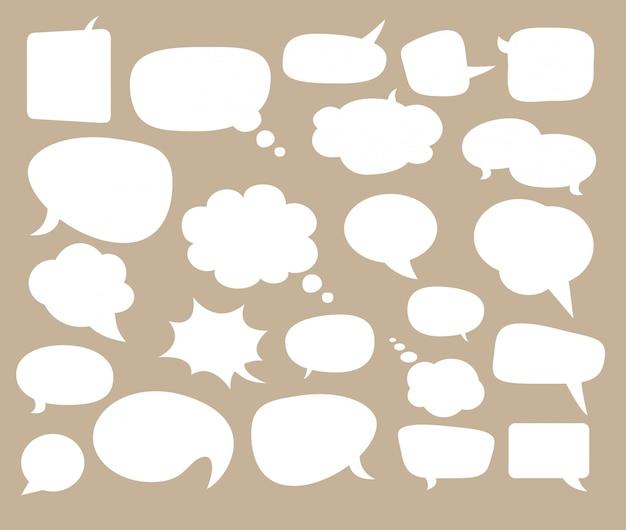 Tekstballonnen voor strips en tekst. Premium Vector
