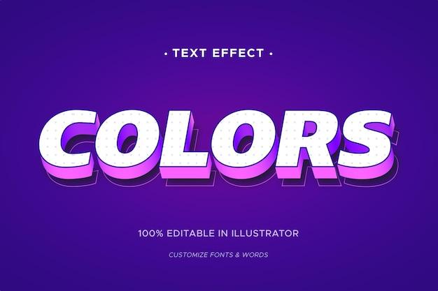 Teksteffect concept Gratis Vector