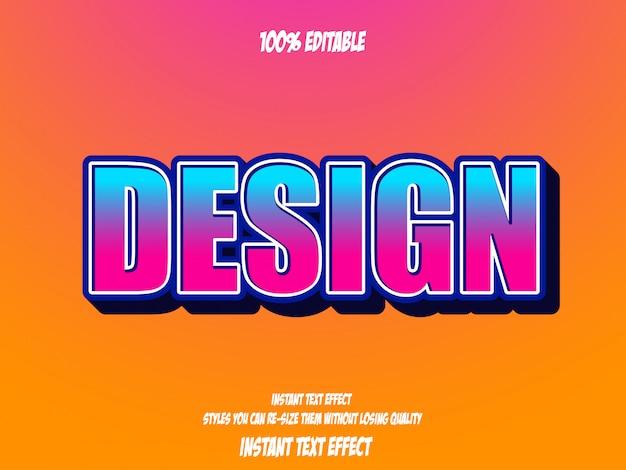 Teksteffect voor cool futuristisch effect, bewerkbare tekst Premium Vector