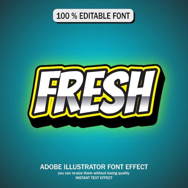 Teksteffect voor cool futuristisch effect Premium Vector