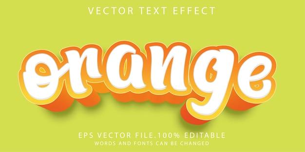 Teksteffecten oranje Premium Vector