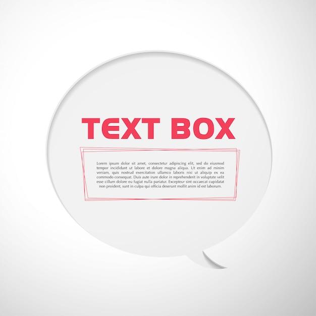 Tekstvak vectorillustratie. Premium Vector