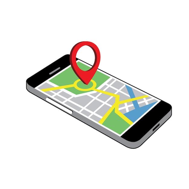 Telefoon navigatie clipart vector Premium Vector