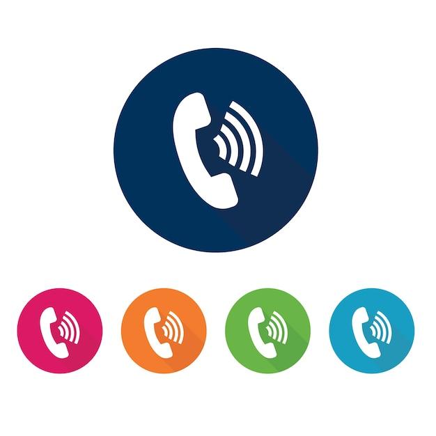 Telefoongesprek pictogram. Premium Vector