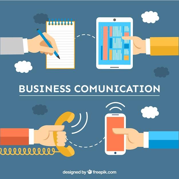 Telefoons gesprekken Gratis Vector
