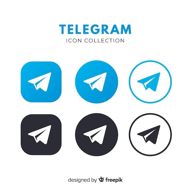 Telegram-pictogram Premium Vector