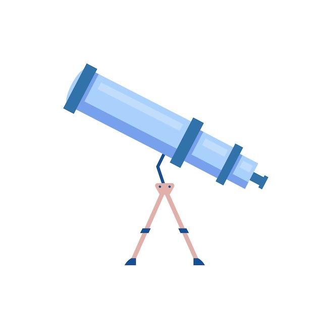 Telescoop cartoon afbeelding. hulpmiddel om de nachtelijke hemel te observeren Premium Vector