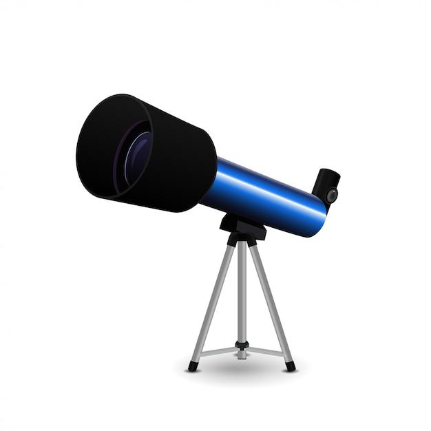 Telescoop geïsoleerd Premium Vector