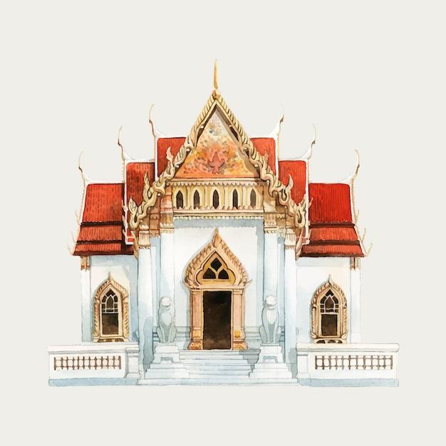 Tempel Gratis Vector