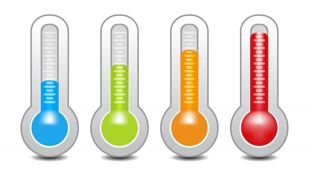 Temperatuurmeter gebruikt in de grill met de apparatuur Premium Vector