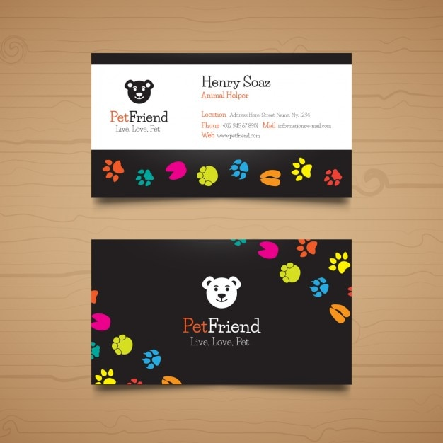 Template pet business card Gratis Vector