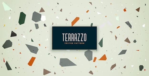 Terrazzo patroon textuur vloer tegels achtergrond Gratis Vector