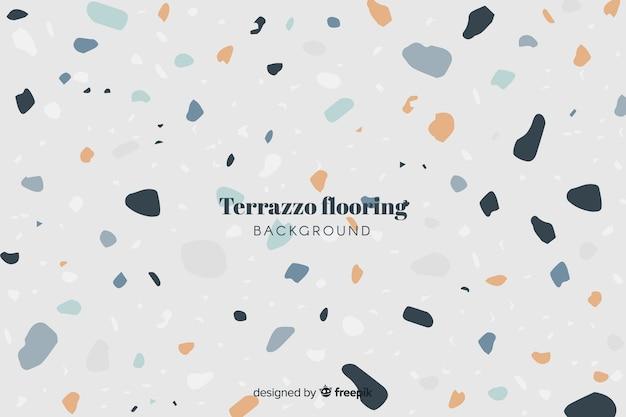 Terrazzo vloer achtergrond Gratis Vector