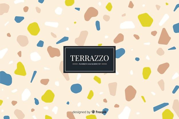 Terrazzovloerachtergrond op bruine kleur Gratis Vector