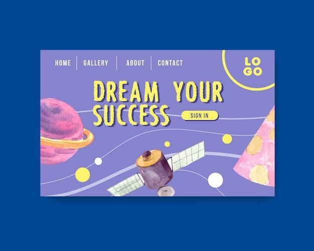 Terug naar school en onderwijsconcept met websitemalplaatje Gratis Vector