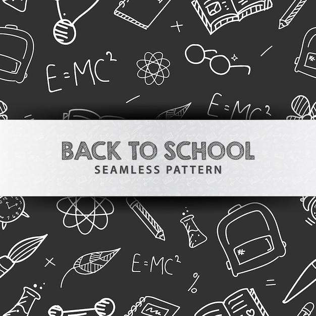 Terug naar school illustratie naadloze patroon Premium Vector