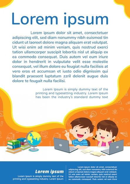 Terug naar school onderwijs en leren onderwijs concept Premium Vector