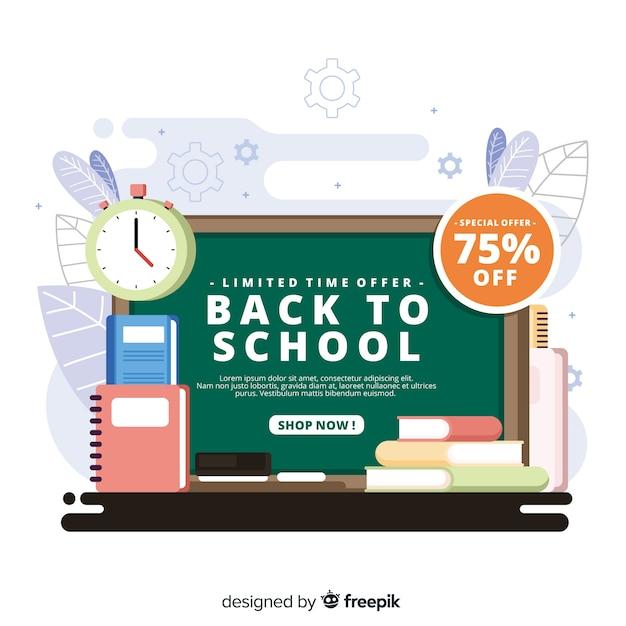 Terug naar school verkoop achtergrond Gratis Vector