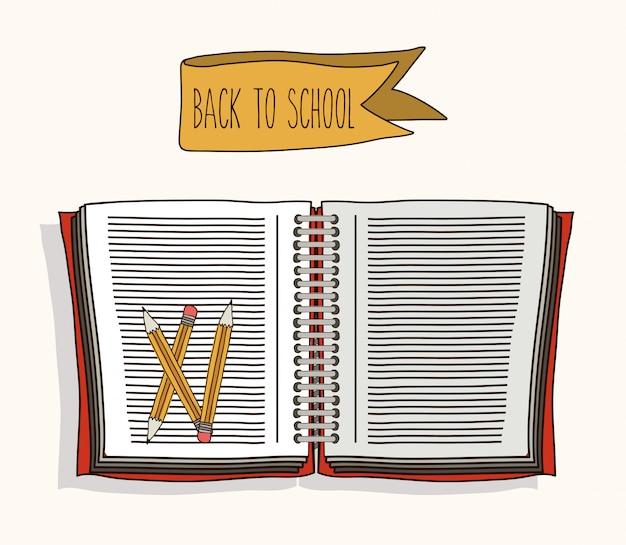Terug naar schoolontwerp Premium Vector