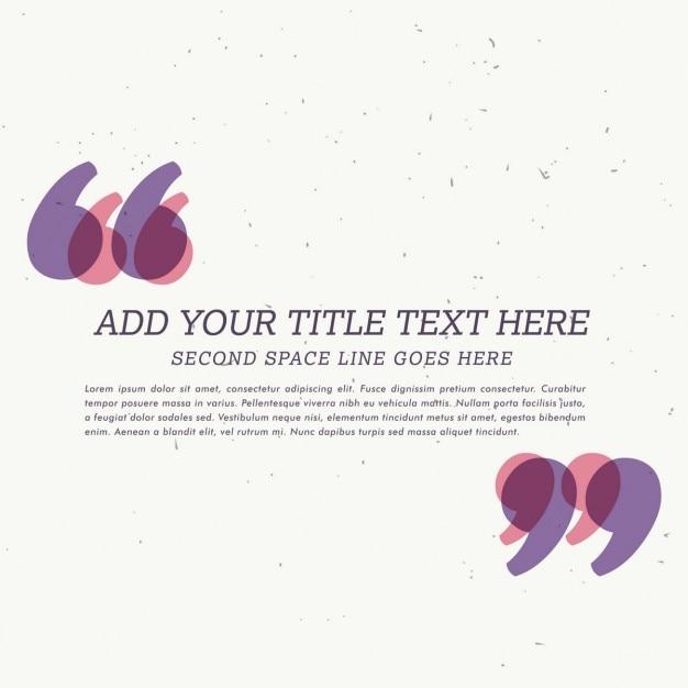 Testimonial tekstvak met ruimte voor uw tekst Gratis Vector