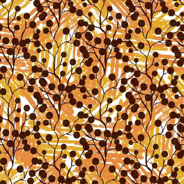 Textielpatroon met bessenornament. naadloze textuur als achtergrond voor textielstoffenontwerp Premium Vector