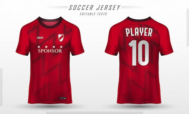 Textuur voor voetbal voetbalshirt Premium Vector