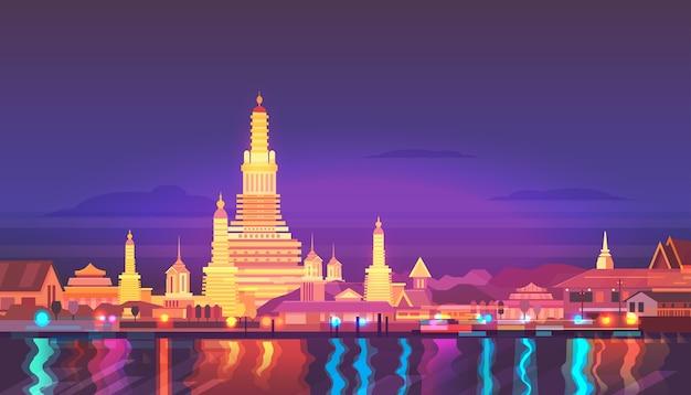 Thailand stadslandschap. Premium Vector