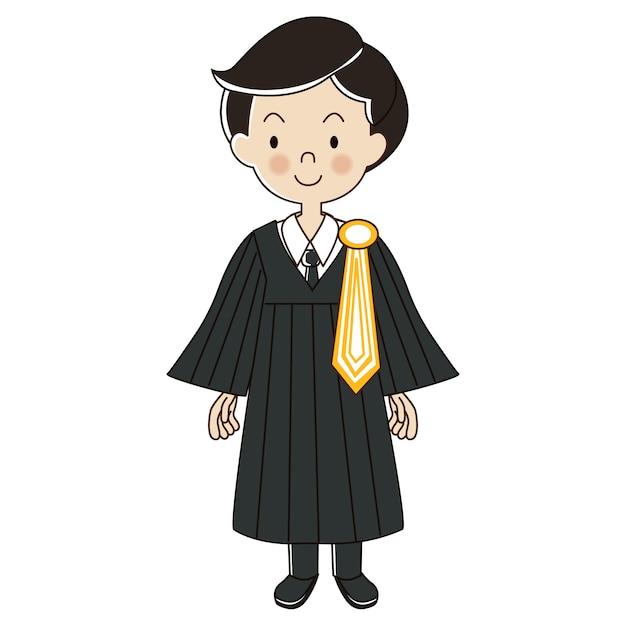 Thaise eenvormige advocaatmens Premium Vector