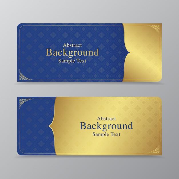 Thaise kunstluxetempel en achtergrondpatroon Premium Vector