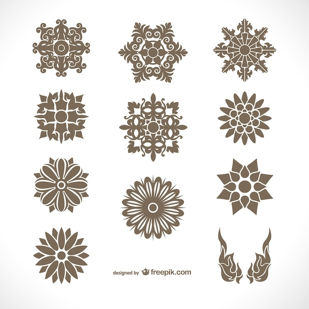 Thaise ornamenten pakken Gratis Vector