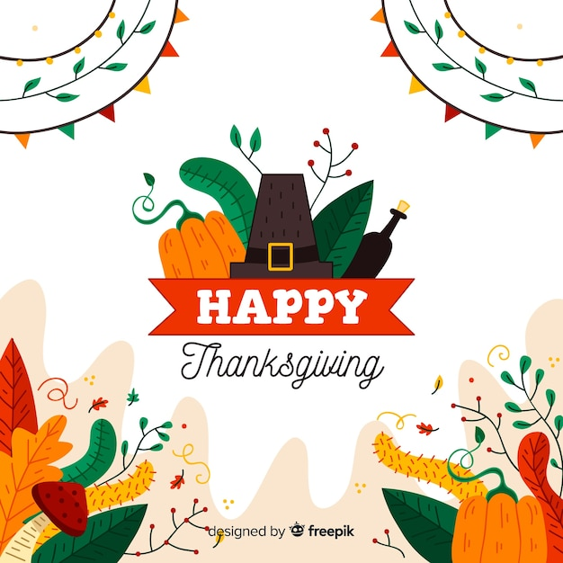 Thanksgiving achtergrond tekening concept Gratis Vector