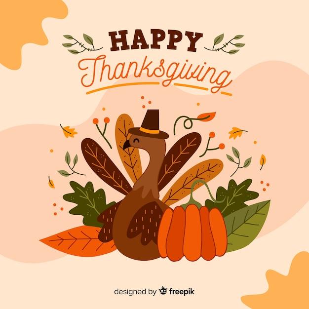 Thanksgiving achtergrondbehangontwerp Gratis Vector