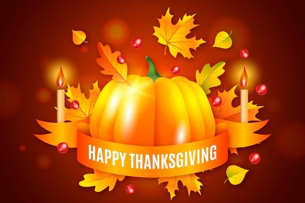 Thanksgiving day achtergrond concept Gratis Vector