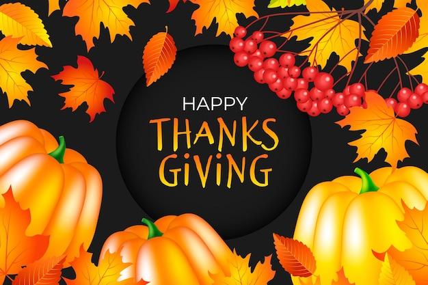 Thanksgiving day achtergrond Gratis Vector