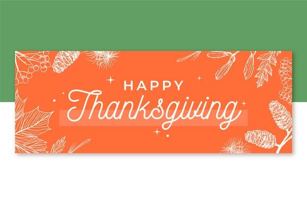 Thanksgiving facebook voorbladsjabloon Gratis Vector