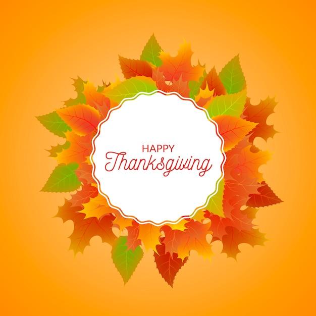 Thanksgiving realistische achtergrond Gratis Vector