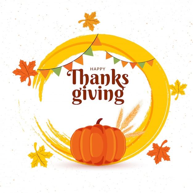 Thanksgiving viering achtergrond. Premium Vector