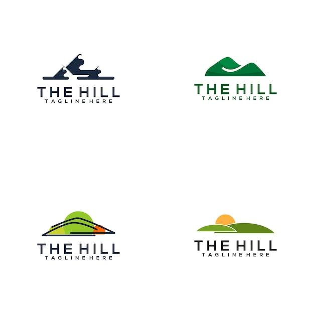 The hill logo collection Premium Vector
