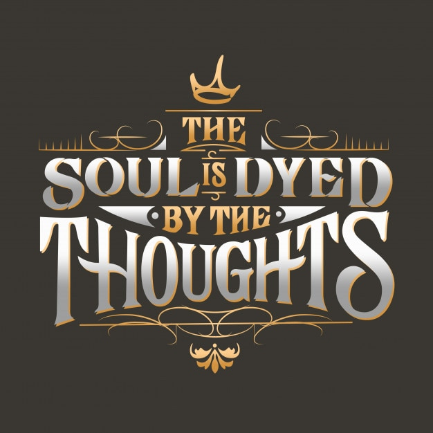 The soul is dyed typography design Premium Vector