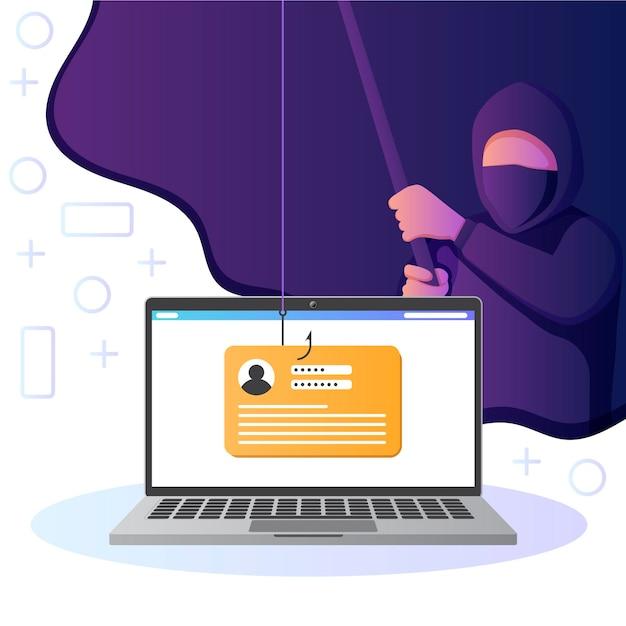 Thema van phishingaccount Gratis Vector