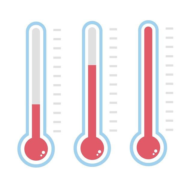 Thermometer pictogram. Premium Vector