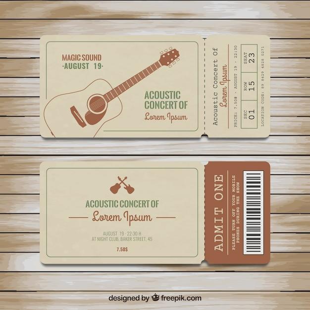 Premium concert tickets