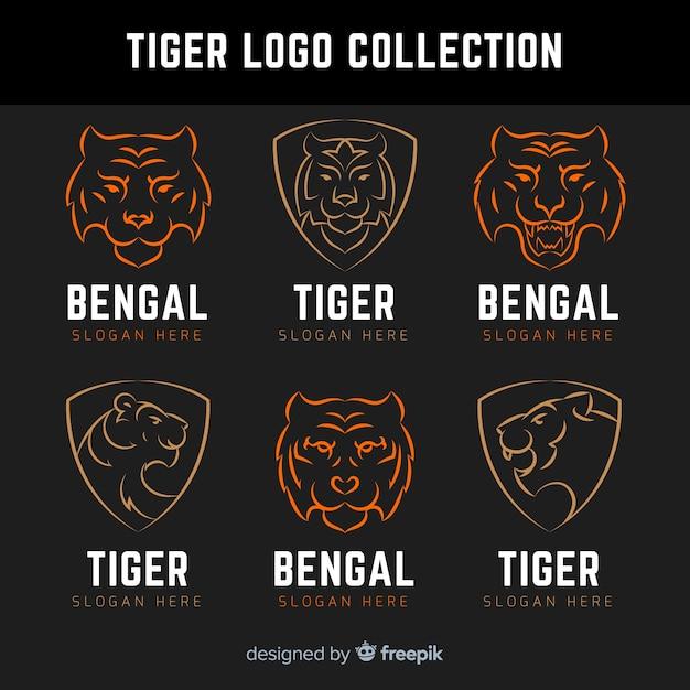Tiger logo collectie Gratis Vector