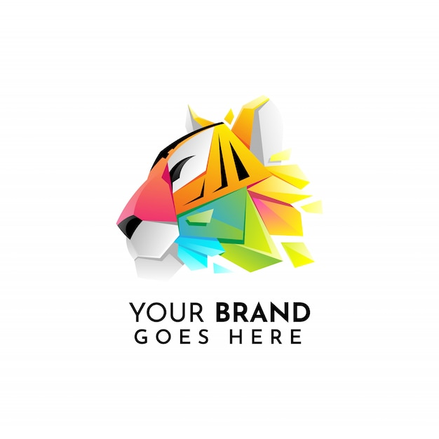 Tiger logo Premium Vector