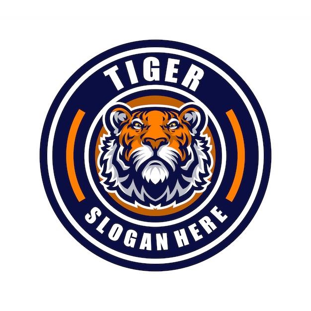Tiger mascot logo sport. Premium Vector