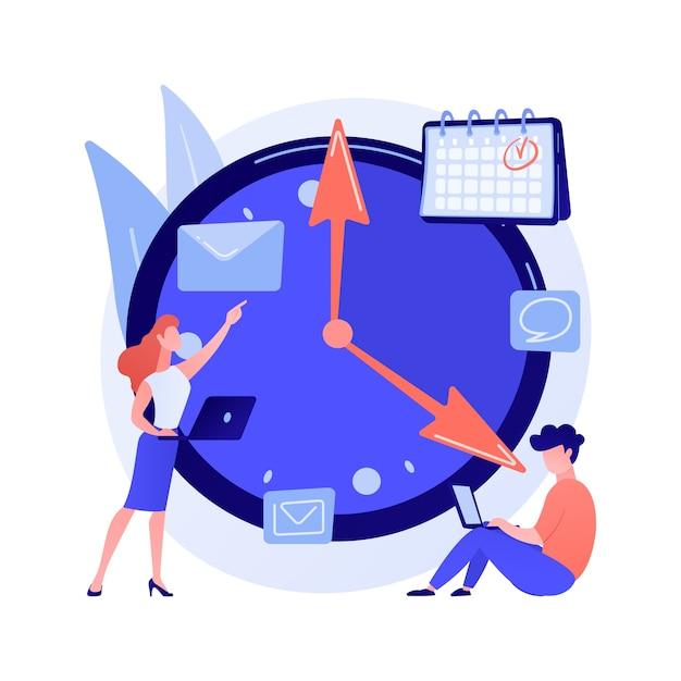 Tijd beheer abstract concept Gratis Vector