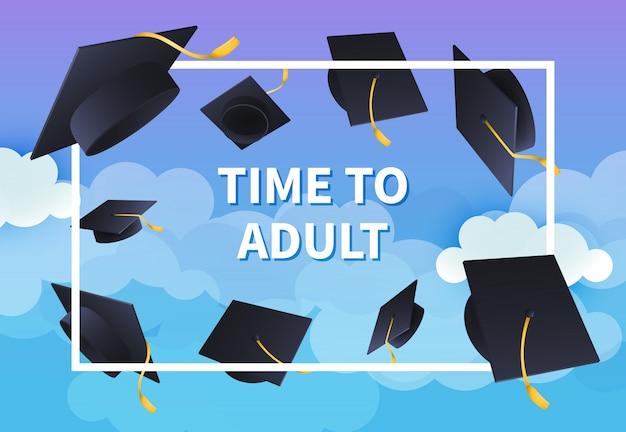 Tijd naar ontwerp van de feestelijke banner van de volwassene Gratis Vector